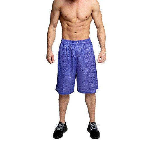 OA Men's Basketball Shorts Active Running Mesh Jersey Short In Purple - Purple Aesthetic