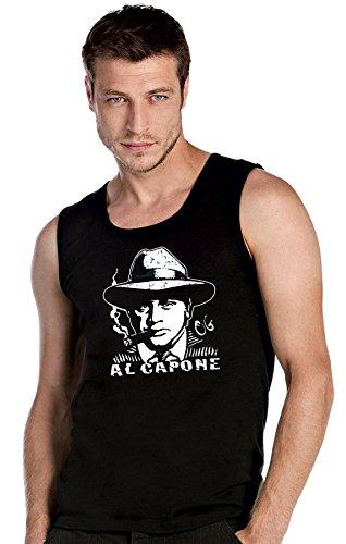 Al Capone Logo schwarze Top Tank T-Shirt -2283