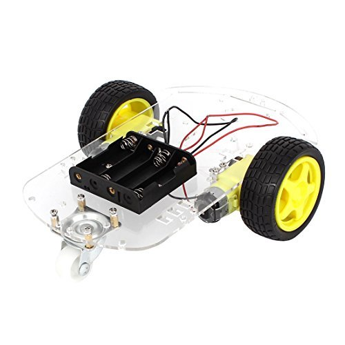 DealMux 2WD Motor Smart Robot Car Chassis Speed Encoder Kit for Arduino 1:48