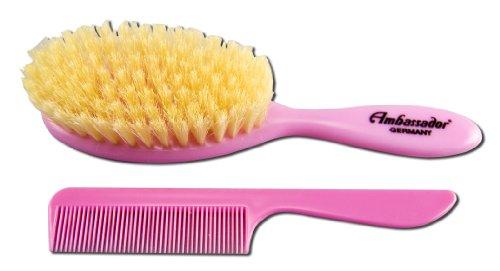 Price comparison product image Ambassador Hairbrush, Baby Brush & Comb, Pink, 1 Hairbrush