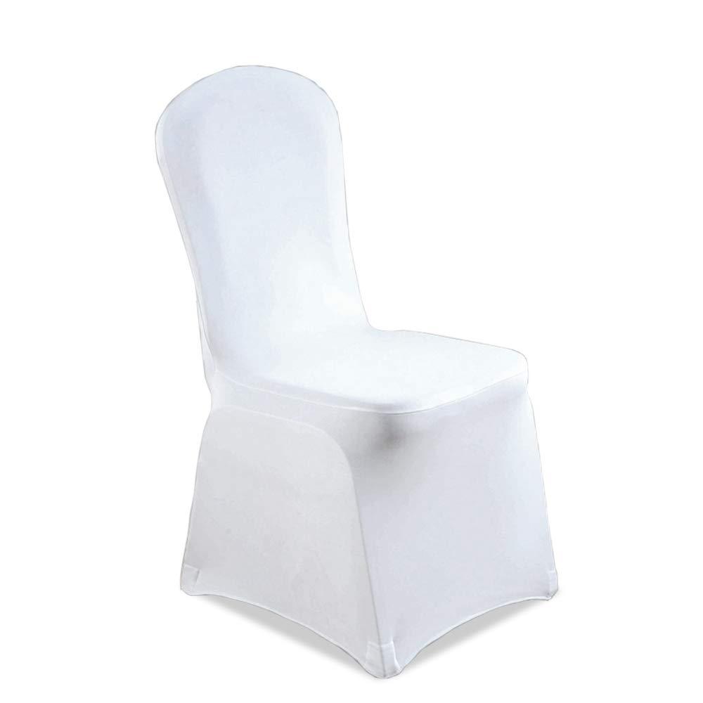 Hengda 100 Stück Universell Stuhlbezüge Stuhlhussen Weiß Stuhlhussen Elastik Stuhl Abdeckung für Hochzeiten und Feiern Pflegeleicht und Langlebig