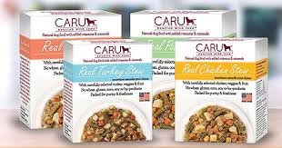 Caru Real Stews Wet Dog Food - 12.5 Oz. Ea. (4 Pack MIXED) Beef, Chicken, Pork, Turkey. Added Vitamins & Minerals, Grain & Gluten Free Wet Dog Food!! by Caru