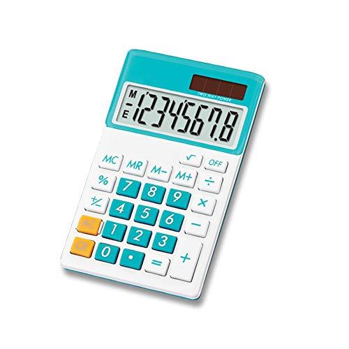 8 Dígitos Calculadora De Bolsillo Mini Solar Eléctrica De Doble Poder Colorido Pantalla LCD De Regalo para El Estudiante De...
