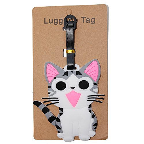DIYJewelryDepot Chi's Sweet Home Cat PVC Luggage Tag Travel Bag Card Tags Suitcase (Cat) (Animal Jam Merchandise compare prices)