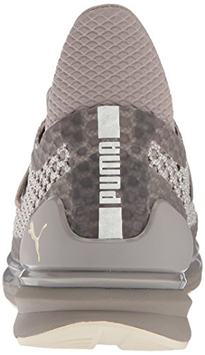 Mens Puma Accendono Illimitata Netfit Più Sneaker Rock Ridge-whisper Bianco