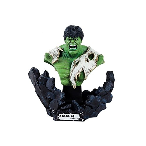 Wowheads Hulk Bust  1 6 Scale Half Figurine Statue  D Cor Paperweight Table Top  Non  Bobblehead  Marvel Disney Avengers  Fragile Resin Made