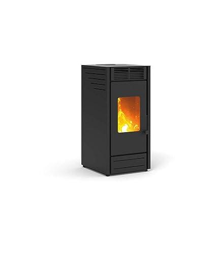 Estufa a PELLAS karmek One Asia de 7,65kW de aire de ventilación de acero, blanco