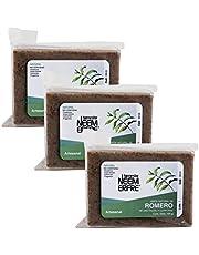 Paquete de 3 - Jabón Natural de Romero Artesanal de Neem Aceite Oliva Tea Tree - Sin Parabenos Petrolatos Grasa Animal- 150 g c/u - 5.29 oz each-Bienestar Neem Erfre