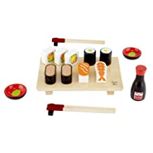 Hape Sushi Selection Kid's Wooden Play Kitchen Accessories and Food Sets