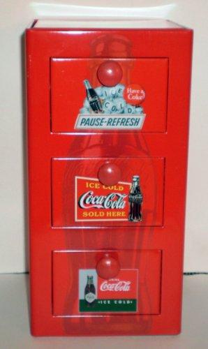 Coca-Cola Coke Tin 3-Drawer Chest