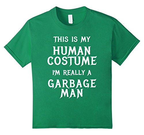 Kids I'm Really a Garbage Man Halloween Costume Shirt Easy Funny 4 Kelly Green