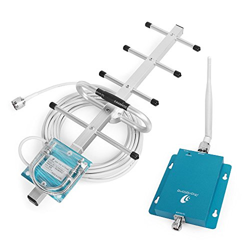 Phonetone Cell Phone Signal Booster Repeater Amplifier Band 5 3G GSM CDMA 850MHz with Whip Antenna and Outdoor Yagi Antenna for Home (Cell Signal Phone Amplifier)