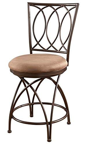 Astounding Powell Big And Tall Metal Crossed Legs Counter Stool 9 49 X 21 26 X 43 31 Seat Height 24 Bronze Mocha Squirreltailoven Fun Painted Chair Ideas Images Squirreltailovenorg
