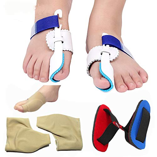 Day & Night Relief Bunion Pain Kit-Treat Pain in Hallux Valgus,Tailors Bunion,Big Toe Joint,Hammer Toe,Toe Separators Spacers Straighteners Splint Aid Surgery Treatment