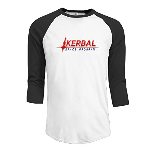 The Kerbal Space Program Man Round Collar 3/4 Sleeve Baseball Tee (Rebelution Band)