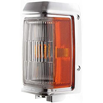 Corner Light Compatible with 1996-1999 Nissan Pathfinder Plastic Clear /& Amber Lens With bulb Driver Side