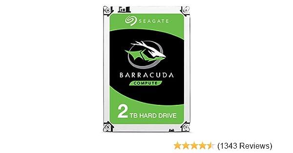 Seagate BarraCuda 2TB Internal Hard Drive HDD - 3.5 Inch SATA 6 Gb/s 7200 RPM 64MB Cache for Computer Desktop PC Laptop (ST2000DM006)