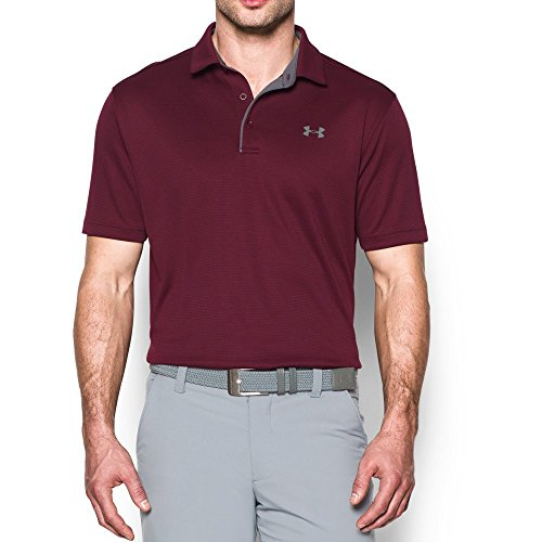 Under Armour Men's Tech Polo, Maroon (609)/Graphite, Large by Under Armour