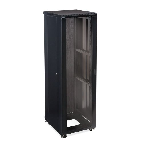 42U LINIER Server Cabinet - Glass/Vented Doors - 24