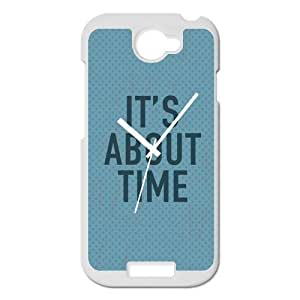 """""""IT'S ABOUT TIME"""" Special Blue Clock design Personality Custom Plastic Cover Case For HTC One S By @ALL"""