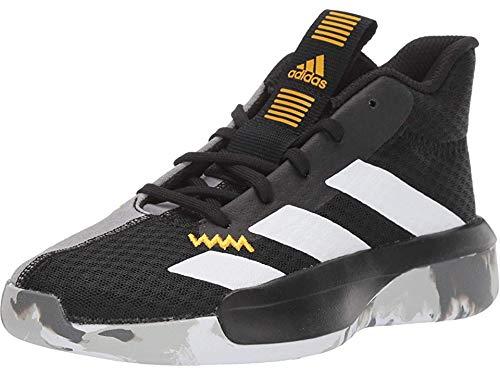 adidas Unisex Pro Next Basketball Shoe, Black/white/active Gold, 5 M US Big Kid