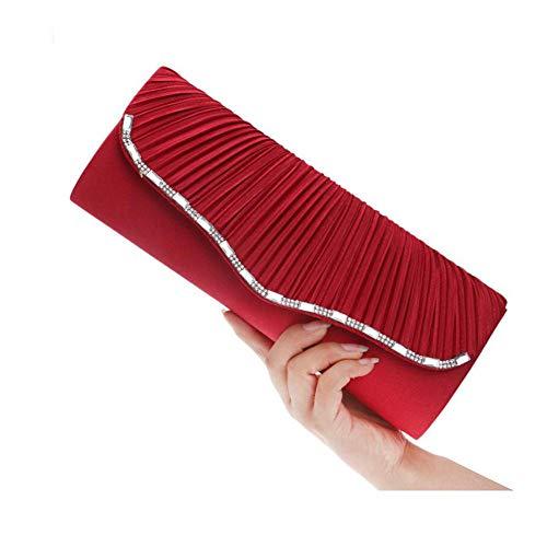 Red Elegante Bolsas Banquete Para Clutch Hombro Satchels Embrague Mano Fashion De Bolsa Mujer Party Multifuncional Junte Mujeres Las zwTBqv