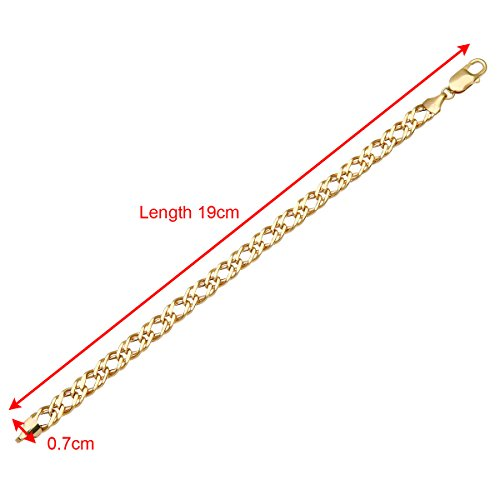 "Citerna - HGR2D120-7.5"" - Bracelet Mixte - Or Jaune 375/1000 (19 Cts) 4.9 Gr"