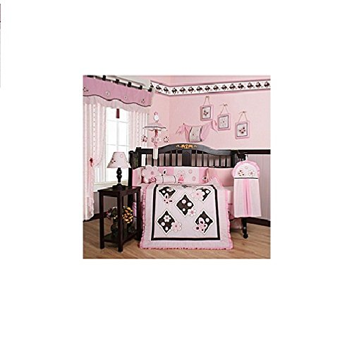 Geeny Boutique 13 Piece Crib Bedding Set, Pink Butterfly