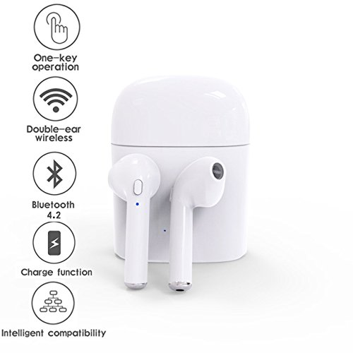 Bluetooth Earbuds Smartip Wireless Headphones Headsets Earpieces Earphones With Charging Case wireless earbuds for iPhone X 8 8plus 7 7plus 6S Samsung Galaxy S7 S8 IOS Android Phones