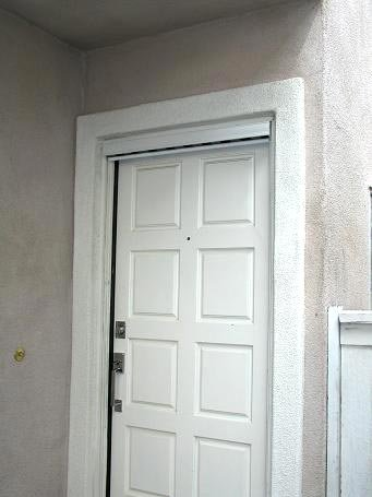 Pull down retractable screen door black in the for Pull down retractable screen door