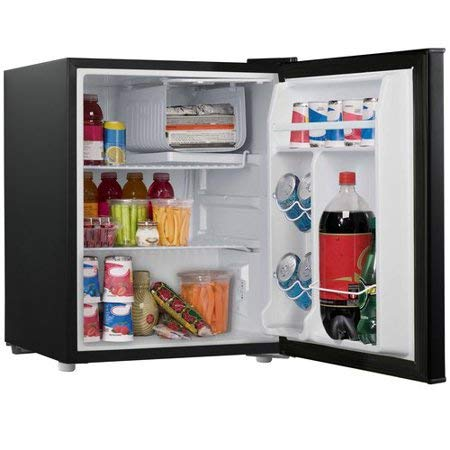 2.7 cubic foot compact dorm refrigerator, Black + Free Cleaning Fabric Cloth