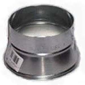 "Gray Metal 8x6-311p Stove Pipe Reducer, 8"" X 6"", 26 Gauge"