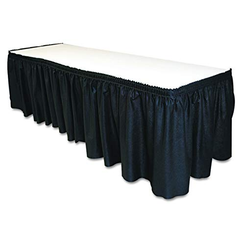 - Tablemate TBLLS2914BK Disposable Linen-Like Table Skirt, Self-Adhesive, 29