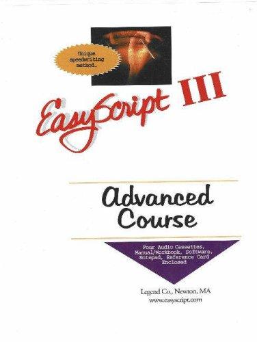 EasyScript III Advanced User / Instructor's Course