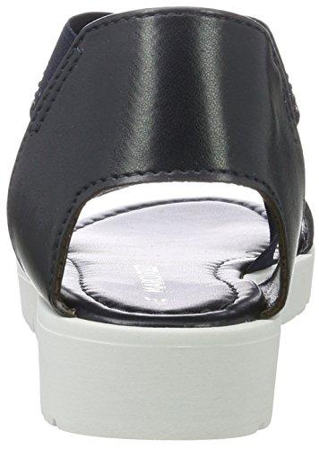 Marco Tozzi Mädchen 48223 Offene Sandalen mit Keilabsatz Blau (Navy 805)
