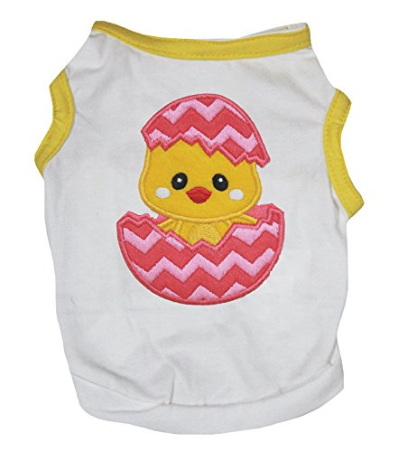 Petitebella Chick Egg White Yellow Cotton Shirt Puppy Dog Clothes (Small) ()