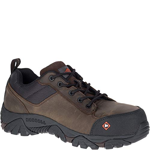 Merrell Moab Rover Lace Comp Toe Work Shoe Men 11.5 Espresso