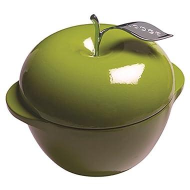 Lodge L Series E3AP50 Enameled Cast Iron Apple Pot, Apple Green, 3-Quart
