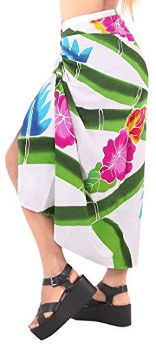 ropa de playa de baño falda pareo traje de encubrir las mujeres del traje de baño de la piscina envoltura desgaste pareo traje de baño complejo de desgaste blanco