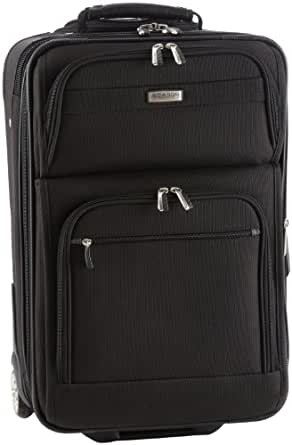 Ricardo Beverly Hills Luggage Huntington Lite 3.0 21 inches Expandable Wheelaboard Bag, Black, 21 x 14 x 7