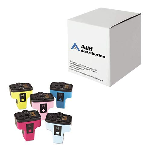 AIM Compatible Replacement for HP NO. 02 Inkjet Combo Pack (C/M/Y/LC/LM) (CC604FN) - Generic