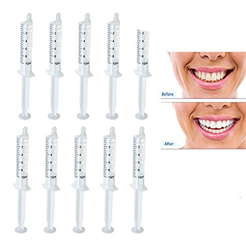 Hydrogen Peroxide Bleaching - Genkent Teeth Whitening Gel Syringes 35% Carbamide Peroxide Tooth Bleaching 10ml Dispensers 10 Pcs