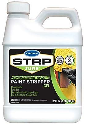 Crown STRP Sure Paint Stripper Gel, 32 oz (1-Quart)