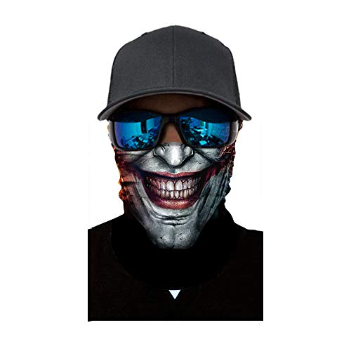 FEDULK Halloween Party Face Mask Dust Wind Protection Durable Motorcycle Bike Riding Hunting Cycling Face -