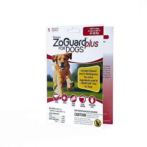 ZoGuard Plus Flea and Tick Prevention for Dogs, 1, 3 and 6 Months Protection (1 Dose, Large)