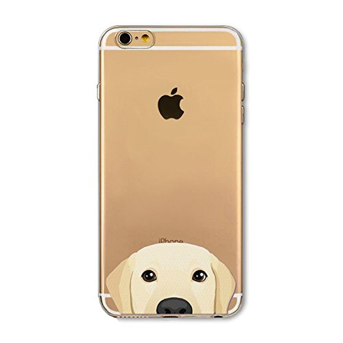 iPhone 6 / 6s , TPU Ultra Slim Silicone Case Cover - Dogs and Cats Series (Golden - Iphone Retriever Golden