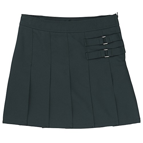 French Toast Big Girls' Two-Tab Pleated Scooter, Hunter, 14