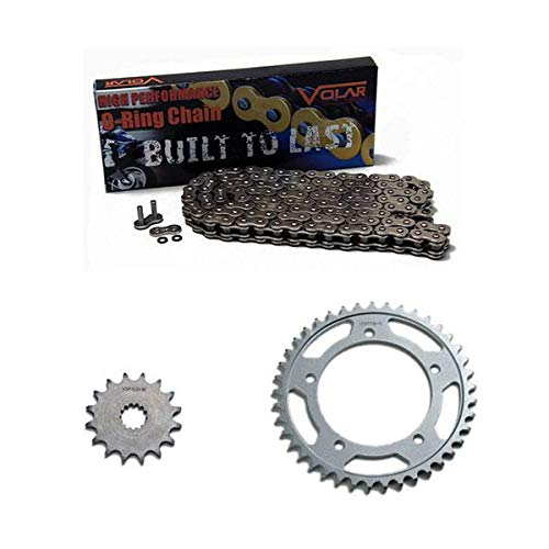 Daytona O-ring Chain - 2011-2016 Triumph Daytona 675R O-Ring Chain and Sprocket Kit - Nickel