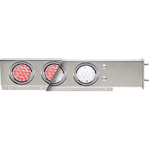 TRUX Accessories Flat Top Mud Flap Hanger Light Bars with Red and Clear LEDs — Pair, Model# TU-9209L2 (Led Mud Flap)