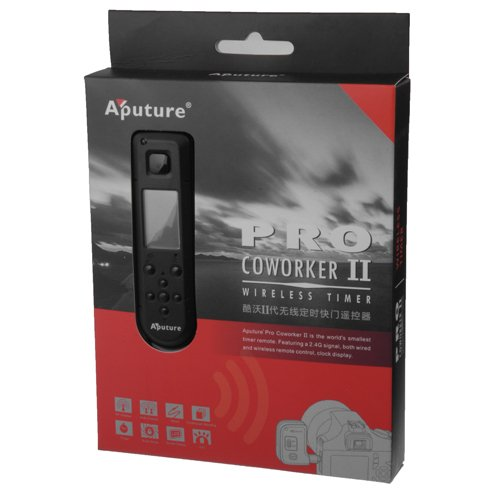 Aputure Coworker II, Wireless Timer Remote Control Shutter Cable 3C, fits Canon EOS 1D, 1DS Mark II, III, Mark III, IV, 1DC, 1DX, D30, D60, 10D, 20D, 20DA, 30D, 40D, 50D, 5D, 5D Mark II, III, 7D by Fotodiox